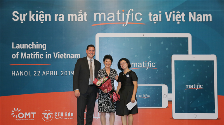 Matific Sydney launched its maths resource in Vietnam 2