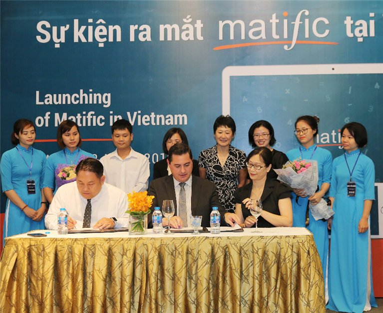 Matific Sydney launched its maths resource in Vietnam 3