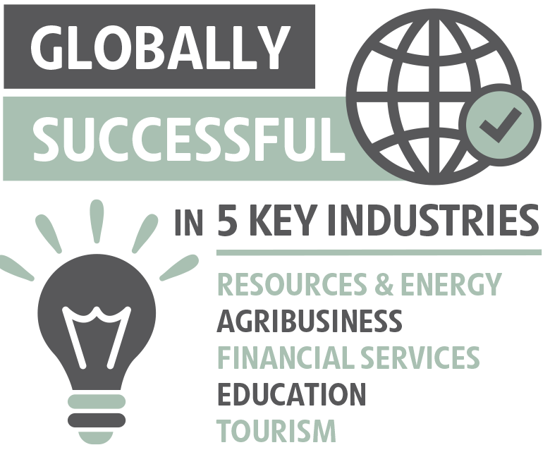 Globally successful in 5 key industries