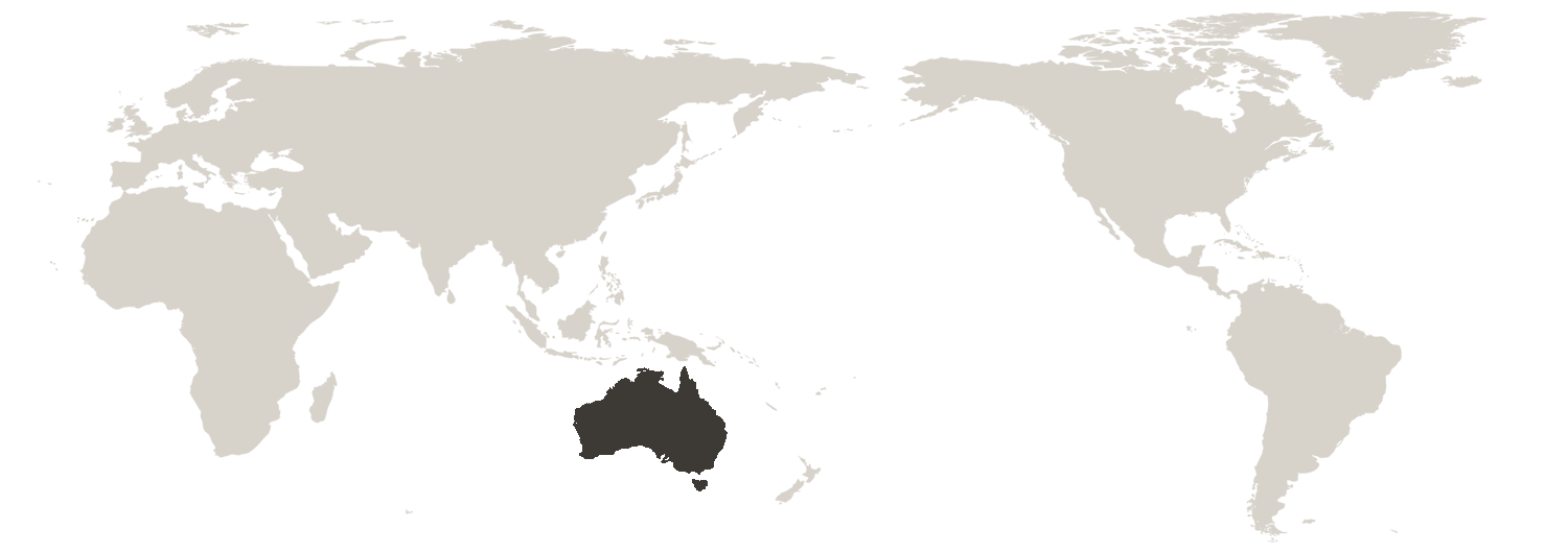 Index countries for australian education institutions austrade map of the world gumiabroncs Gallery